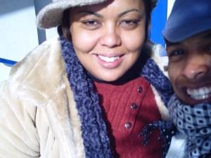 Eu e Kélia no frio!